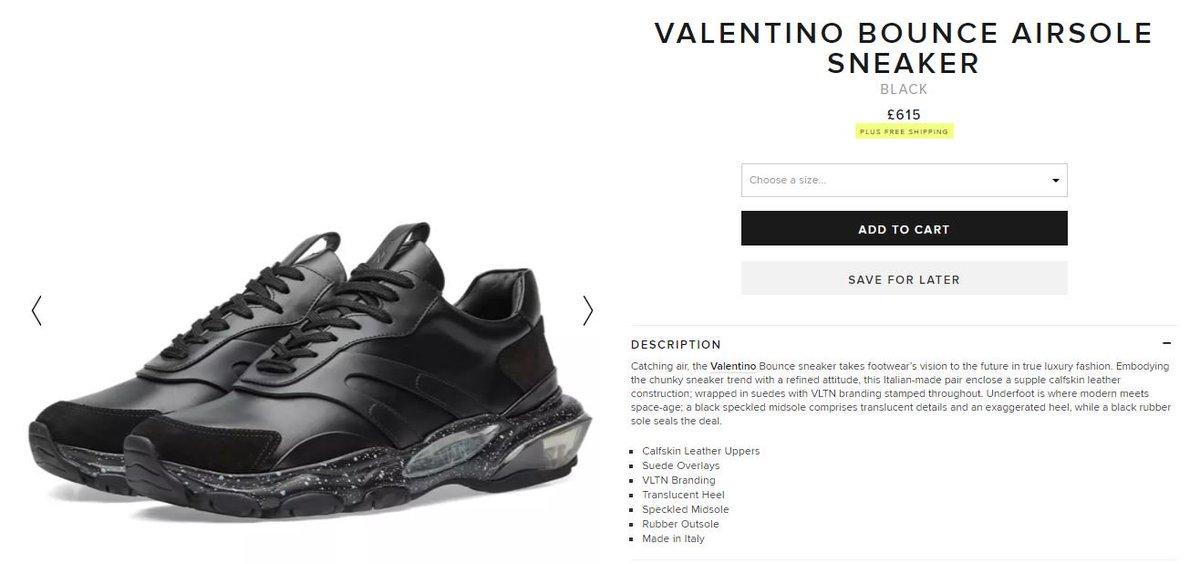 Valentino Bounce Airsole Sneaker