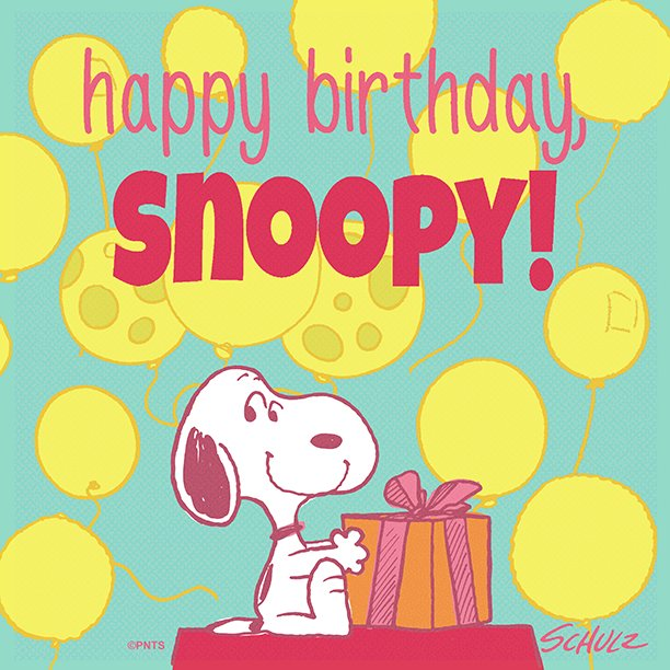 It's Snoopy's birthday today! �� �� https://t.co/XiiYaX3ciP