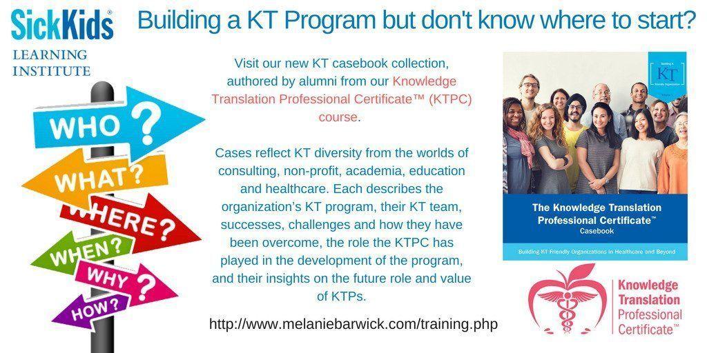 Building a KT Program? Need help? Look no further. Our KTPC Casebook is here!     https:// buff.ly/2KW02bU  &nbsp;   @SrdjanaF @KTAustralia @researchimpact @slkingsnorth<br>http://pic.twitter.com/AJ35gqLjvO