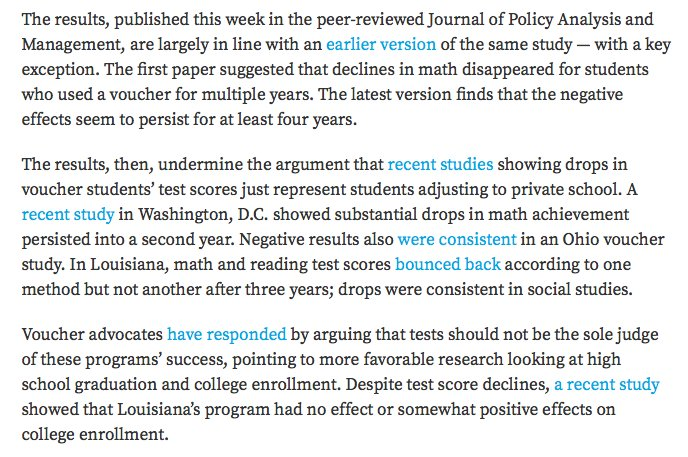 New Study Suggest Voucher Programs Are >> Matt Barnum On Twitter The New Indiana Voucher Study Weakens The