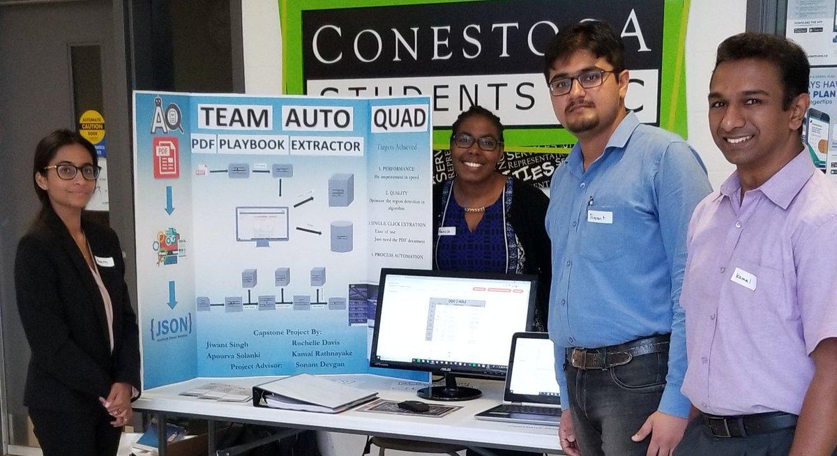 Computer Applications Development  #capstoneprojects on display today.  Impressive student work! #thinkconestoga <br>http://pic.twitter.com/A15FqgbzbV &ndash; à Conestoga College Cambridge Campus