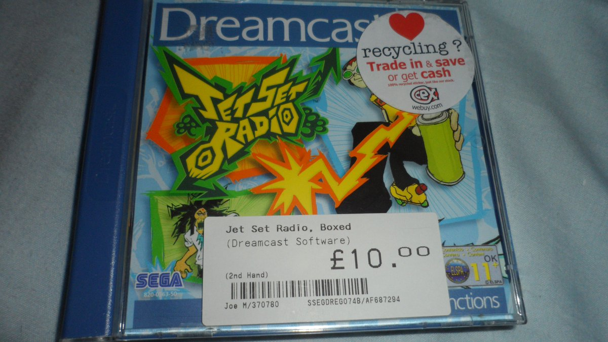 I didn;t come away empty handed! Jet Set Radio! One of my most wanted games for the Dreamcast! <br>http://pic.twitter.com/PHMBfuqSPx
