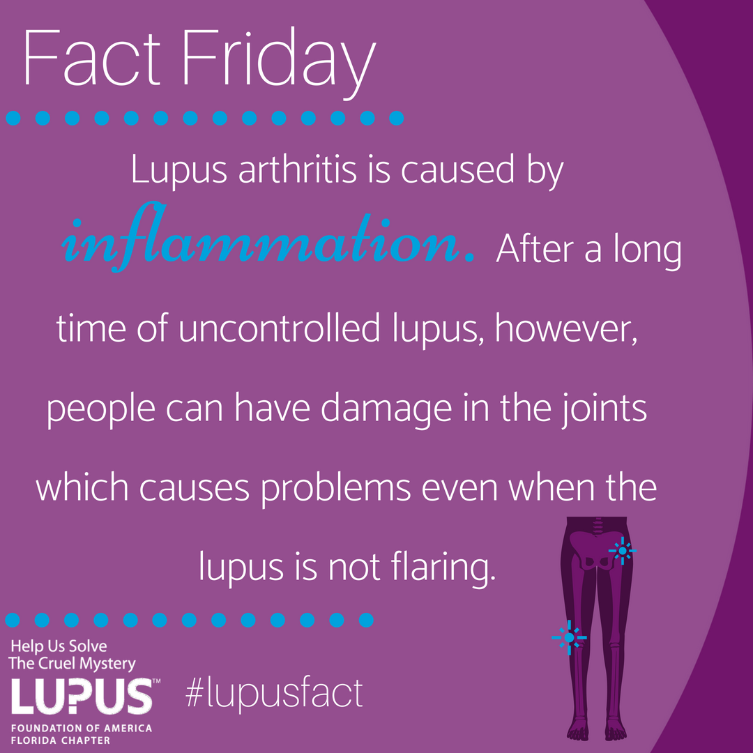 #FactFriday: #Lupus is not a form of arthritis, but it does include arthritis as one of the most common symptoms, so it is easy to see why some people think about it that way.<br>http://pic.twitter.com/W8s7a90Jgr
