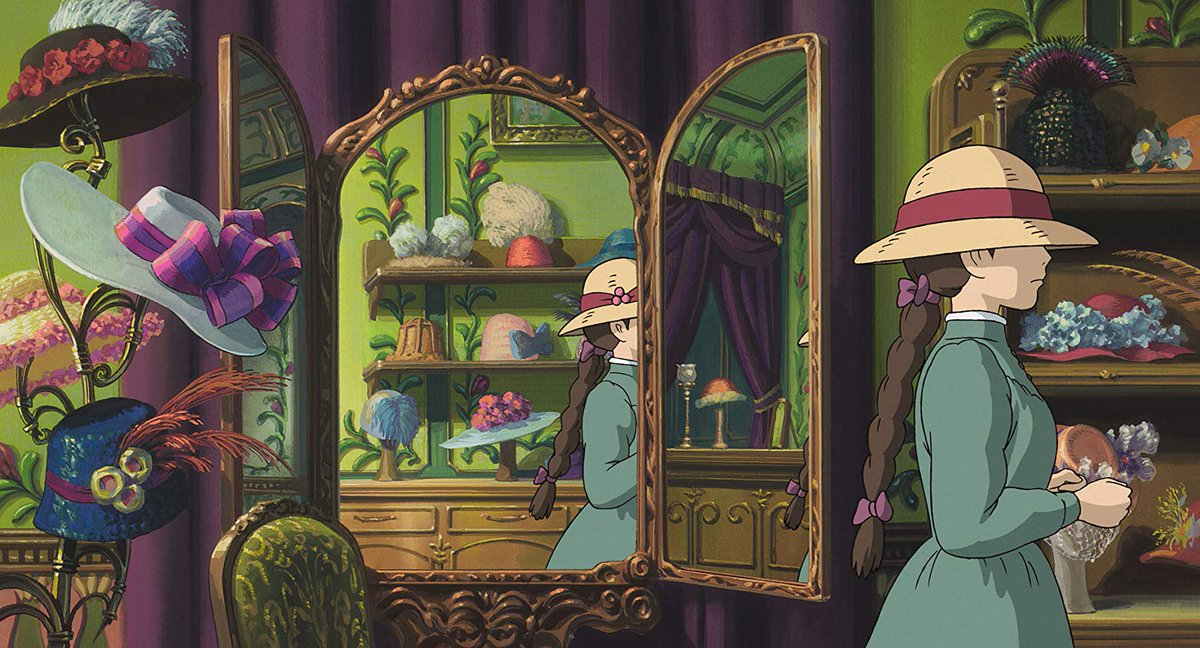 &quot;Howl&#39;s Moving Castle&quot; was on TV tonight in Japan. I haven&#39;t seen it in a while, and I forgot how visually stunning it is.  #ハウルの動く城 <br>http://pic.twitter.com/IMyp1ls7EW