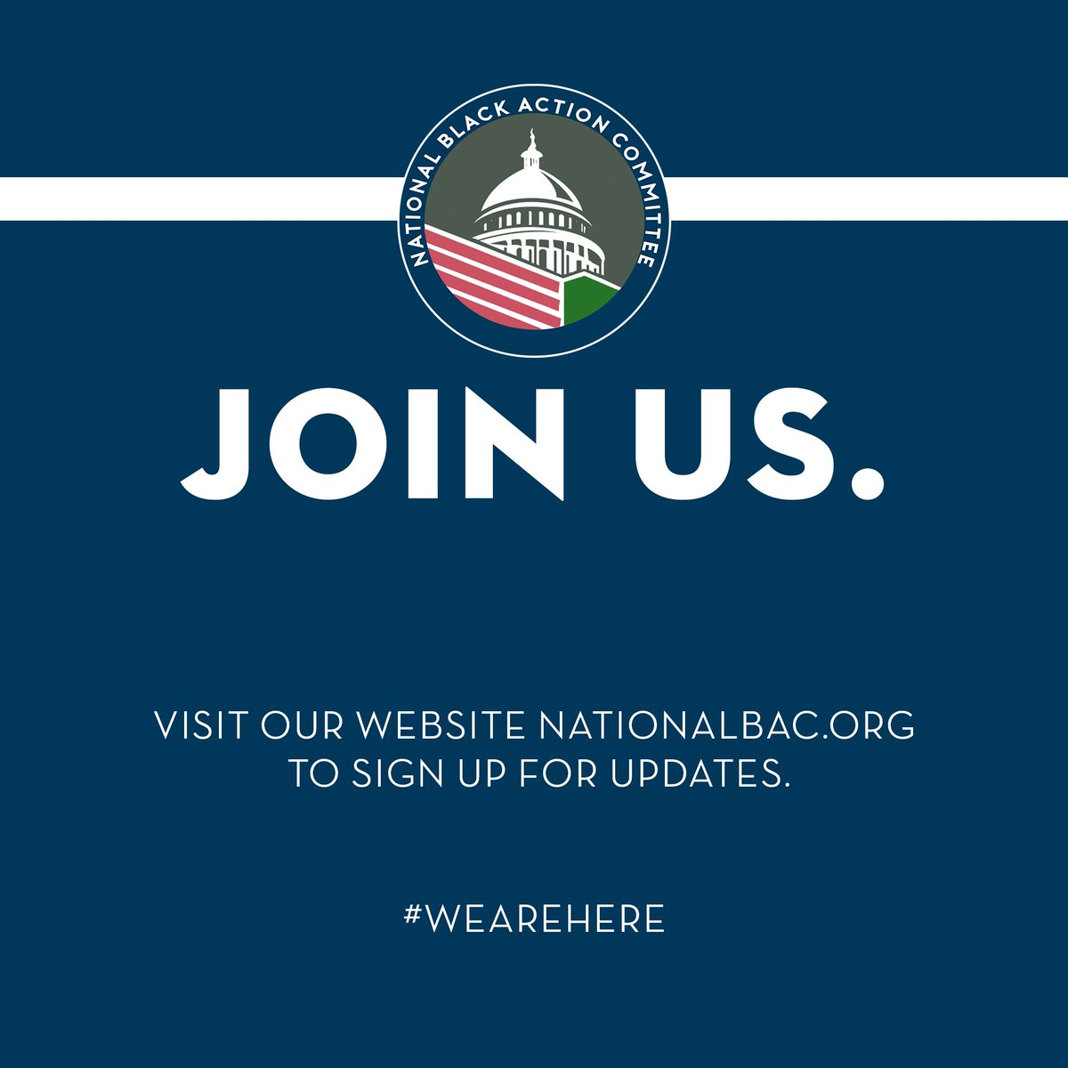 Join us! Visit our website:  http:// nationalbac.org  &nbsp;   to receive updates from the National Black Action. Membership drive starts soon! #NBAC #NationalBAC #WeAreHere <br>http://pic.twitter.com/Q1ziiOm2A7