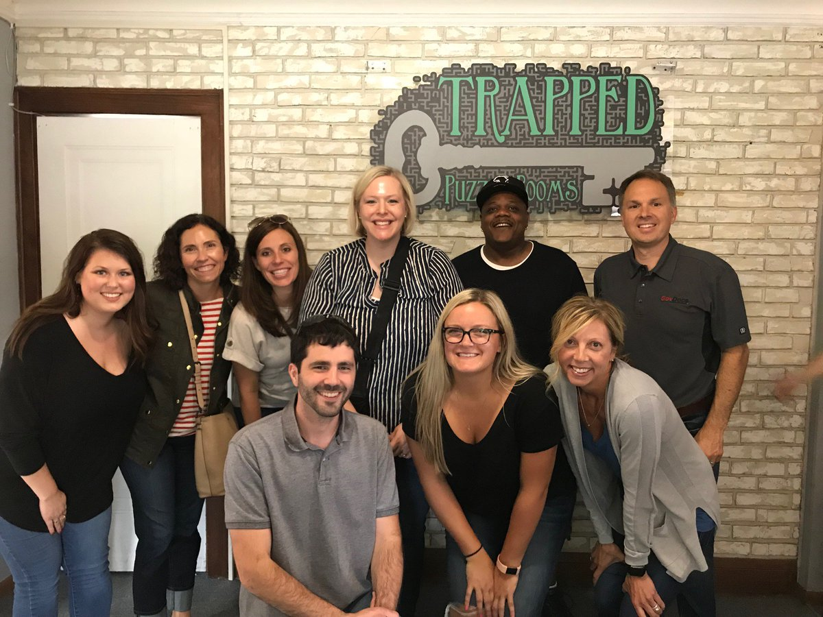 The GovDocs team had a blast at Trapped Puzzle Rooms last week, even though only two of the four teams made it out of their rooms on time!  #LifeAtGovDocs<br>http://pic.twitter.com/pW6hMZmDhK