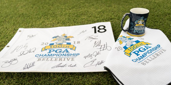 Signed by #TeamPING and sent from Bellerive. RETWEET for a chance to win an autographed flag and #PGAChamp merch. (Random winner announced 8/13) Photo