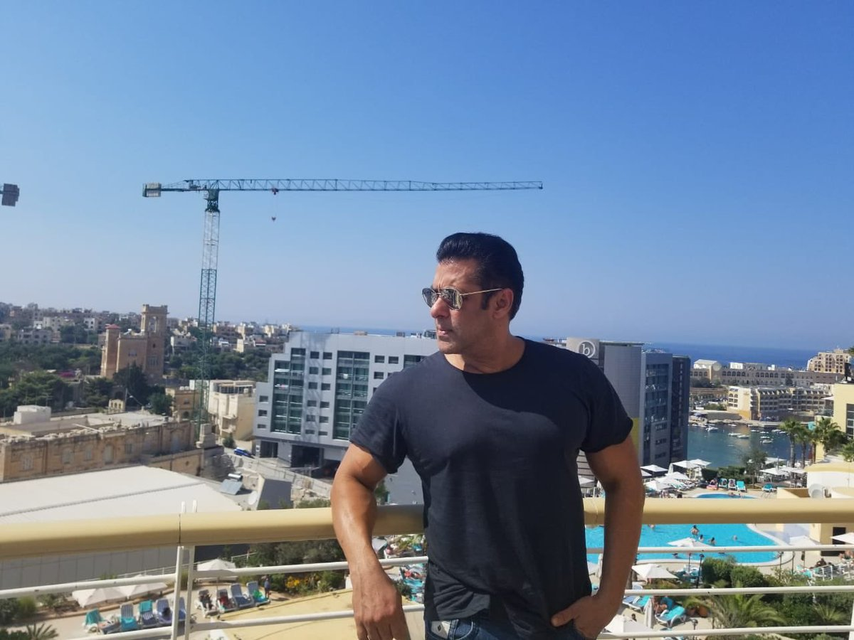 Starting the shooting schedule of #Bharat in Malta, lovely country .