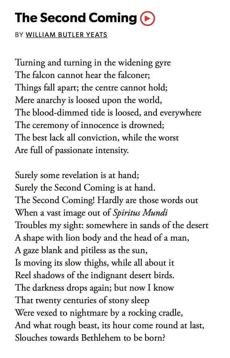 yeats poem things fall apart