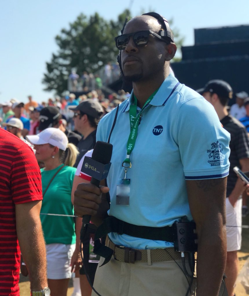 NBA Finals MVP and... golf analyst? ��   @andre joined the TNT crew at the @pga championship Friday! https://t.co/npZObFzYNA