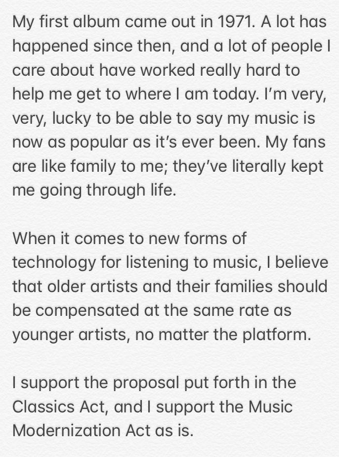 I support the Music Modernization Act as is