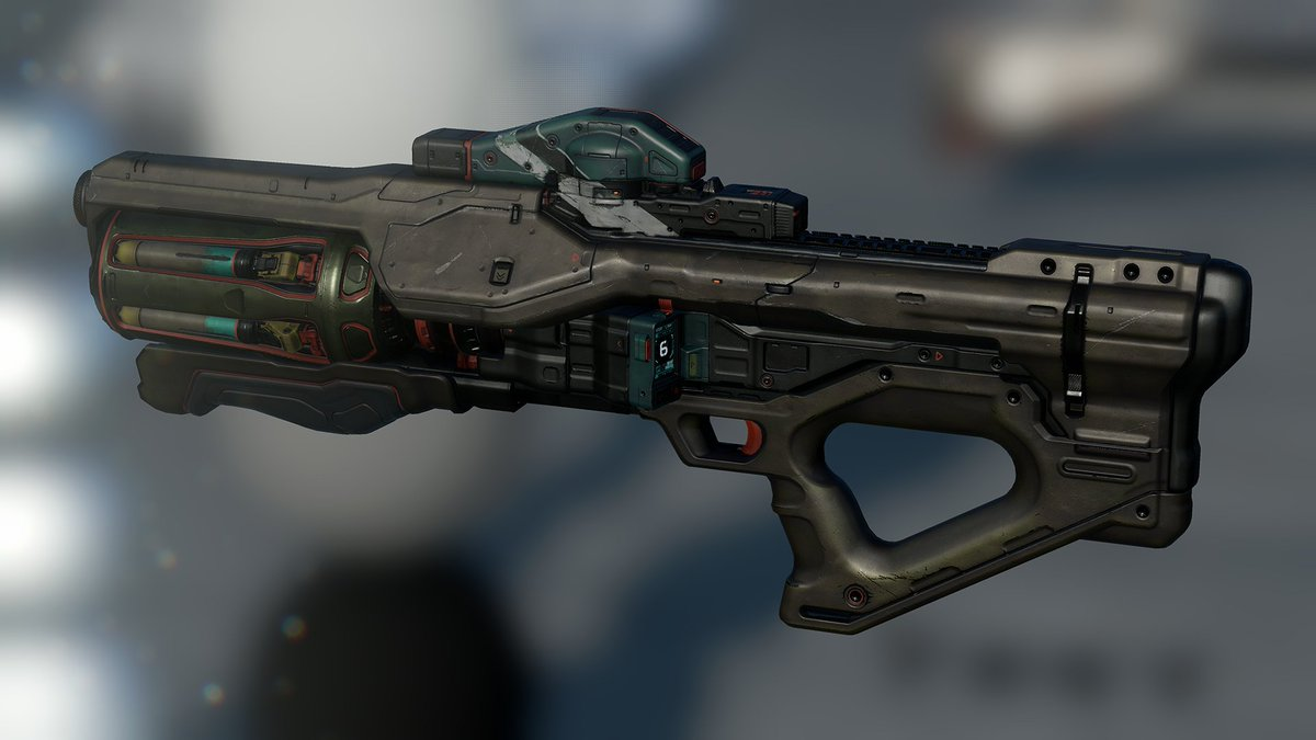 Highly effective in both close-quarters combat and medium-range engagements, the Hydra features an elegant semi-automatic targeting and tracking system to unleash gyroscopically stabilized HEAB (High-Explosive Air Bursting) rockets. #FictionFriday halowaypoint.com/en-us/universe…