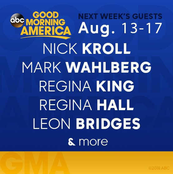Image result for Highlights for ABC News' 'Good Morning America,' Aug. 13 – 17