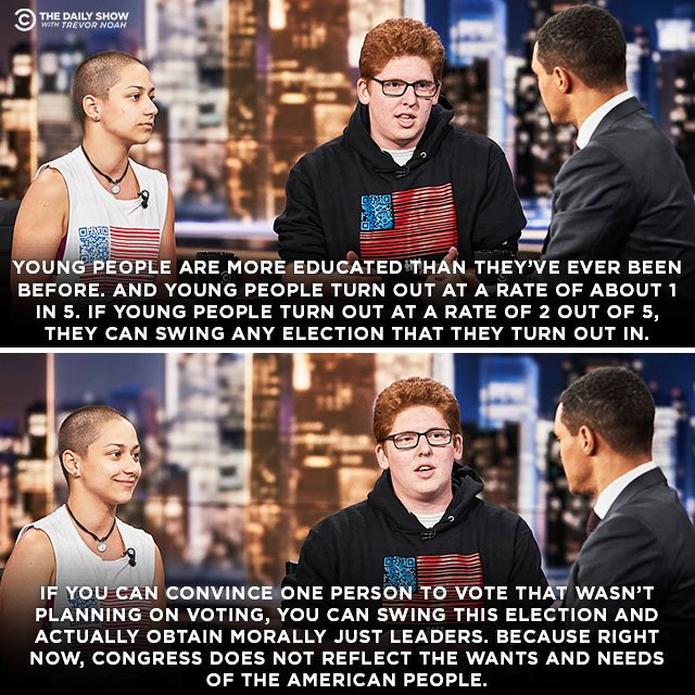 March For Our Lives activists @MattxRed and @Emma4Change discuss the importance of the youth vote.  Full interview:  https:// on.cc.com/2KE2GP3  &nbsp;  <br>http://pic.twitter.com/cvY1lgFDv8