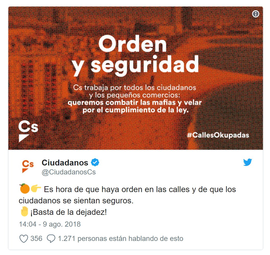 C&#39;s now drop their masks. Their motto &quot;Order and security&quot; is copied from the extreme right that governs Austria. And it is contradictory to how their followers act   in the streets and balconies of #Catalonia ... <br>http://pic.twitter.com/5szDj27Os9 #Spain #Puigdemont #CivilRights  https:// twitter.com/KRLS/status/10 27957170208432128 &nbsp; …