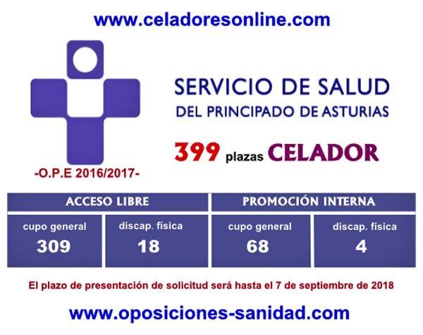 399 plazas de Celadores/as del SESPA en plazo de presentación de instancias hasta el 7-Septiembre-2018... DkQPvpdXoAAWcRq