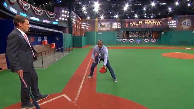 Can you get into a ready position too early in the field? Harold Reynolds and Tom Verducci explain. https://t.co/7pXYpnzMCL