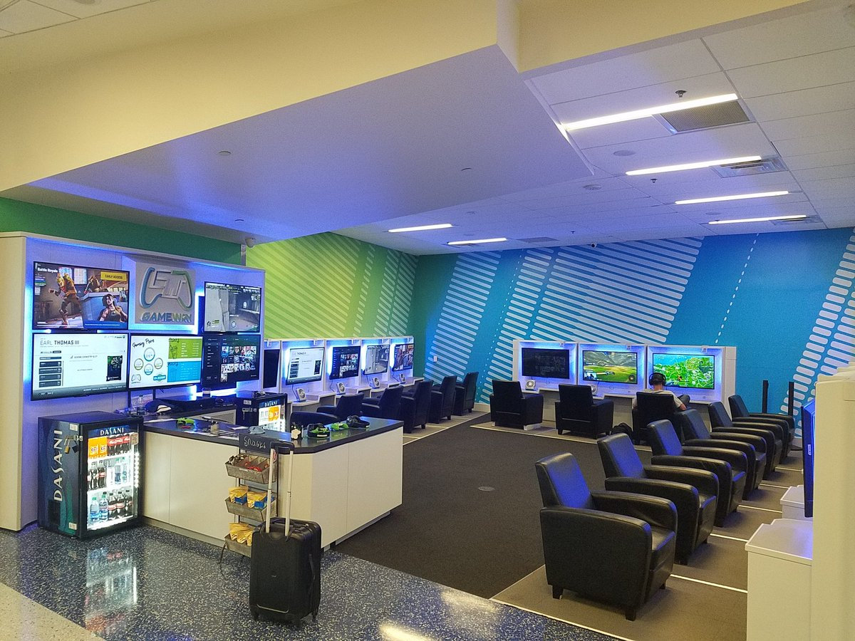 Gameway Video Game Lounges On Twitter We Have Two In Dfw Terminal B Gate 42 And Terminal E Gate 16 The Terminals Are Quick And Easy To Access With The Skylink We