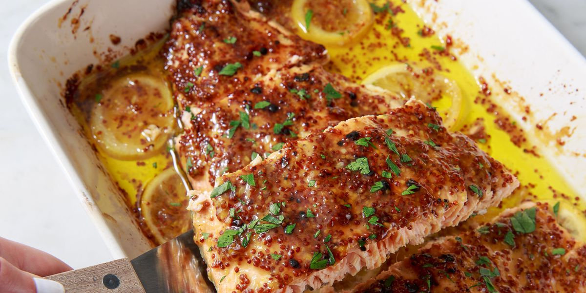 Honey Mustard Roasted Salmon https://t.co/1IF4bLSYbV https://t.co/qsvYp4PvKv