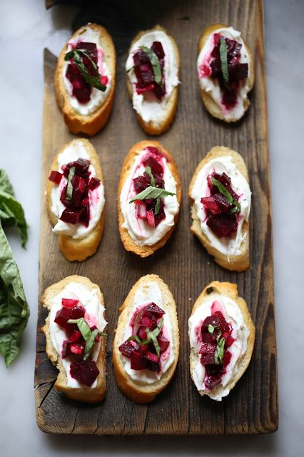 Pic of the day: Beet Bruschetta with Goat Cheese and Basil, recipe here: https://t.co/okji9ECg0d #food #recipes https://t.co/CxXDAtShDa