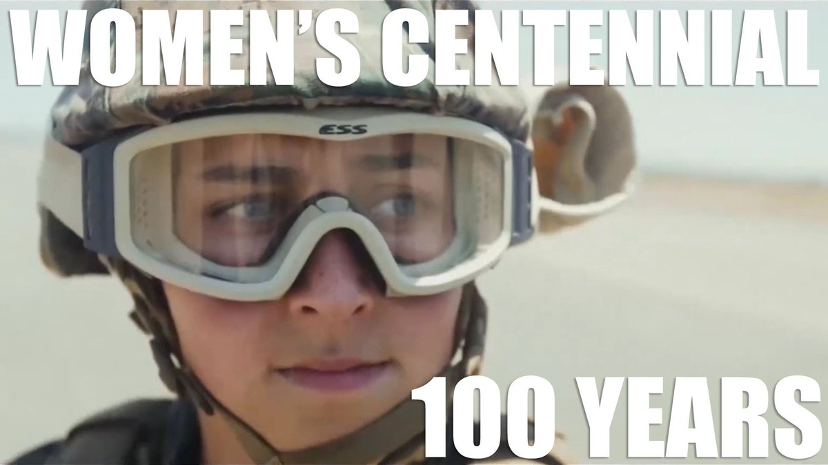 Today is the 100th anniversary of women in the Corps. Ooh-Rah, Marines!