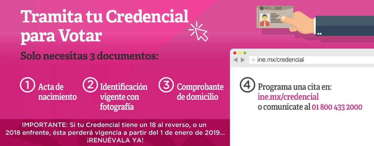 Ine Chiapas On Twitter Tramita Tu Credencial Para Votar En