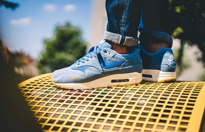 Nike Air Max 1 Premium Mini Swoosh Blue 875844-404 Drops tomorrow 8 AM GMT  ... 28d9bbeb5