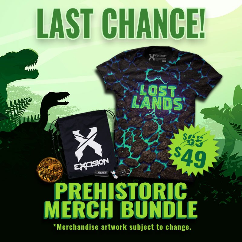e6abe08ec Bundle includes Official Lost Lands T-Shirt (exclusive colorway),  Drawstring Bag, & official pin. Get yours at  http://lostlandsfestival.com/tickets/ ...