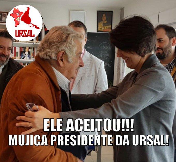 Aproveitando que estou em Buenos Aires para a conferência que está acontecendo agora, convidei Mujica para assumir a presidência da URSAL. Ele aceitou!!!! Photo