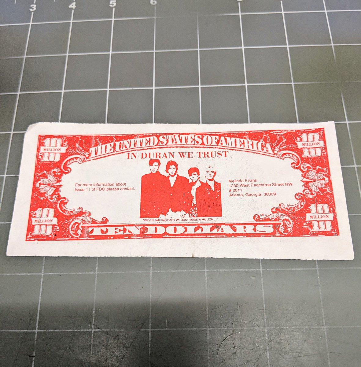 Hey @duranduran Is this still legal tender? Happy #DuranDuranAppreciationDay #DDAD18 <br>http://pic.twitter.com/RBfISN9MGs
