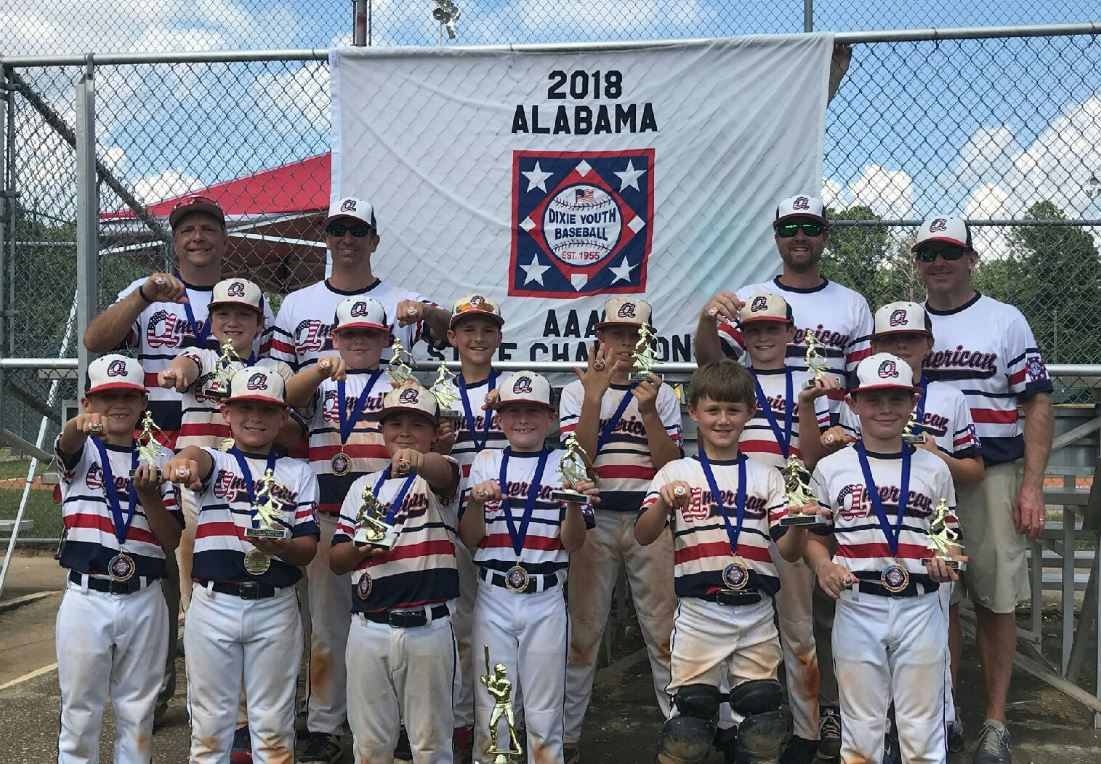 The 2018 Alabama Dixie Youth Baseball State Champions played hard and represented the state of Alabama well at the Dixie Youth Baseball World Series in Lumberton, NC.   Hats off to Dothan American (AAA), Headland (Majors) &amp; Auburn Orange (O-Zone) for the great seasons they had! <br>http://pic.twitter.com/V4XiObolC2