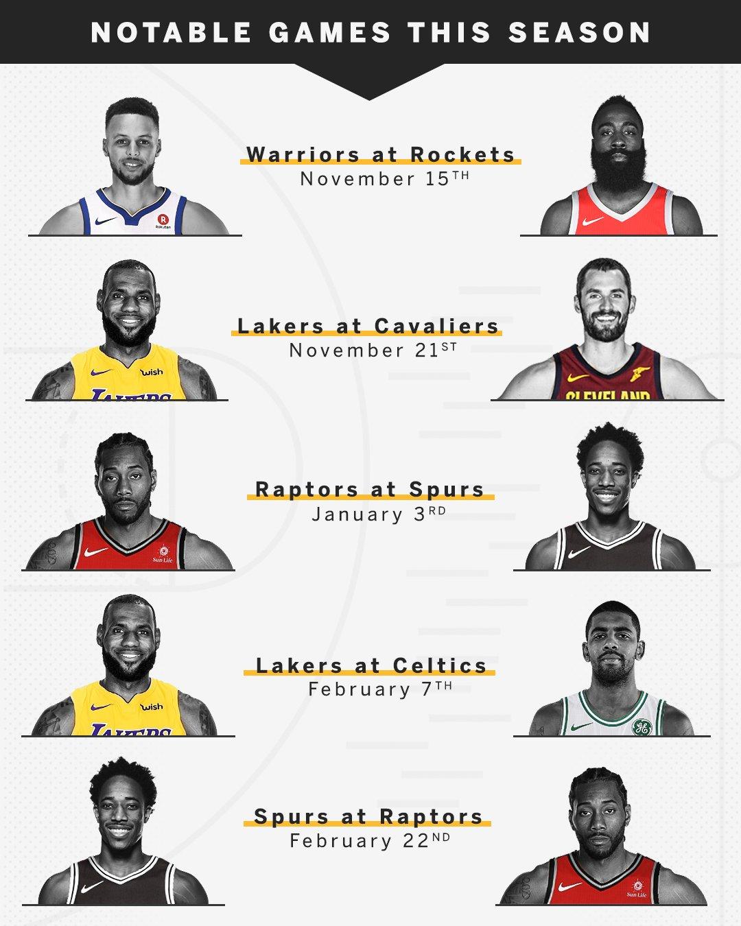 The full NBA schedule has been released …  CAN'T. WAIT. �� https://t.co/4ejRMoIKJ9 https://t.co/QMWN9u1kPe