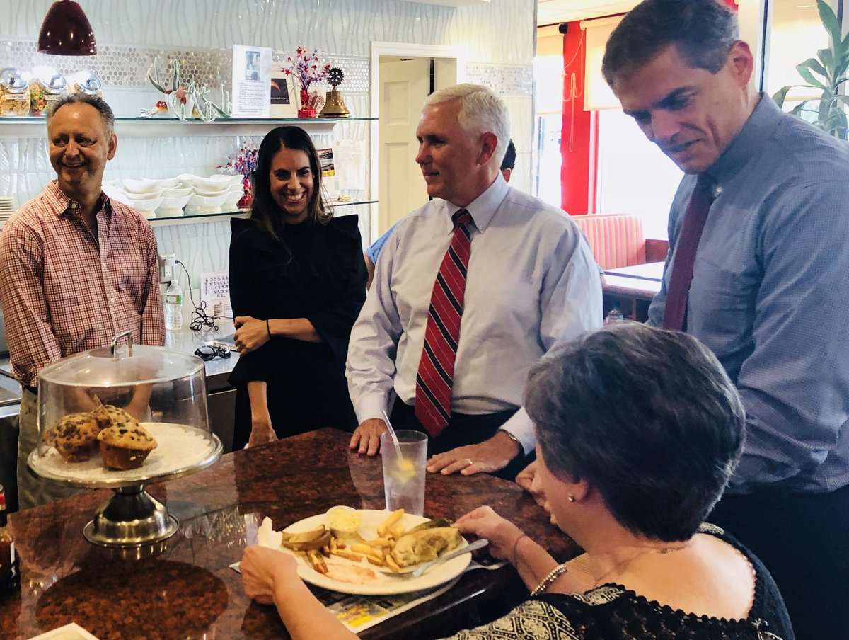 Great campaigning with @JayWebberNJ, the next congressman from #NJ11! We stopped by Florham Park Diner to visit with the hardworking staff and patrons. Thanks for your hospitality! VOTE for Jay Webber in November!