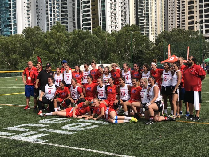 FINAL: Our Women's team pulled off an impressive 🇨🇦45-🇨🇿13 victory over the Czech Republic !!! #2018FFWC Photo