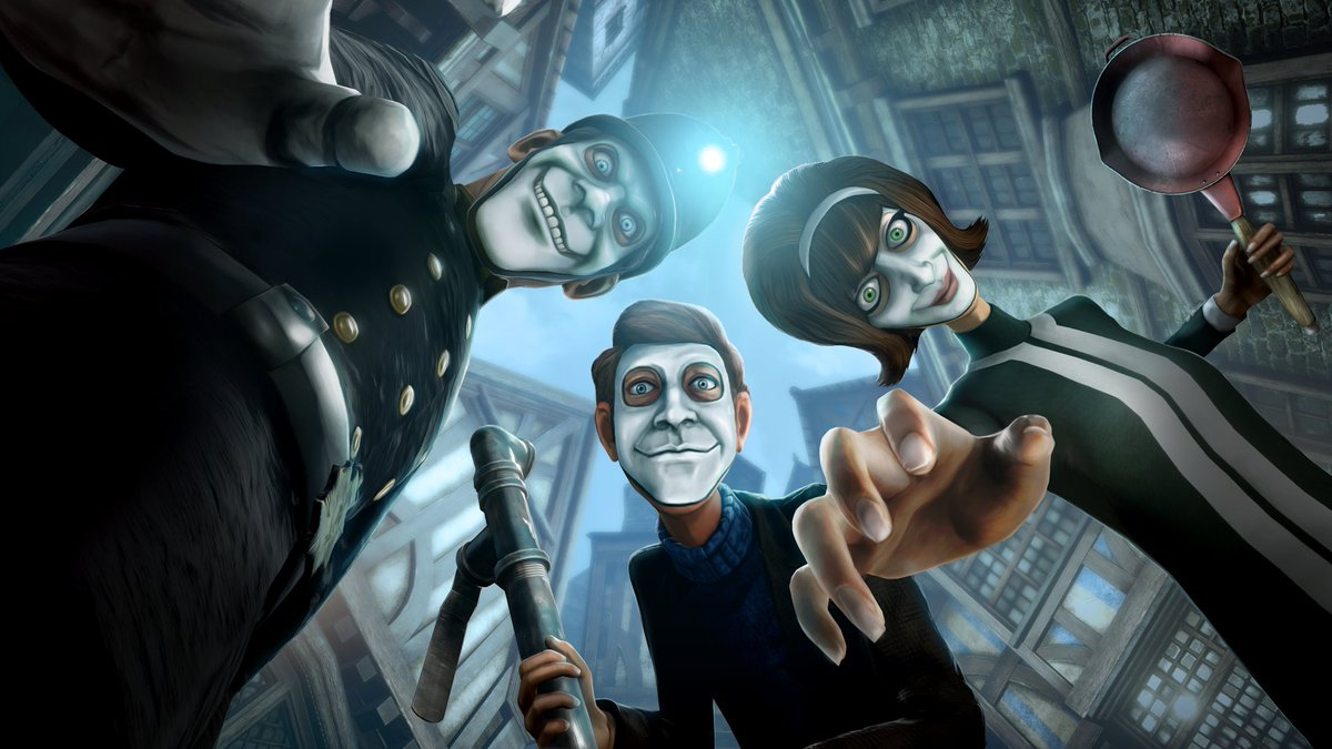 We Happy Few is now available to download and play on PC. Take your 'joy' today! #WeHappyFew