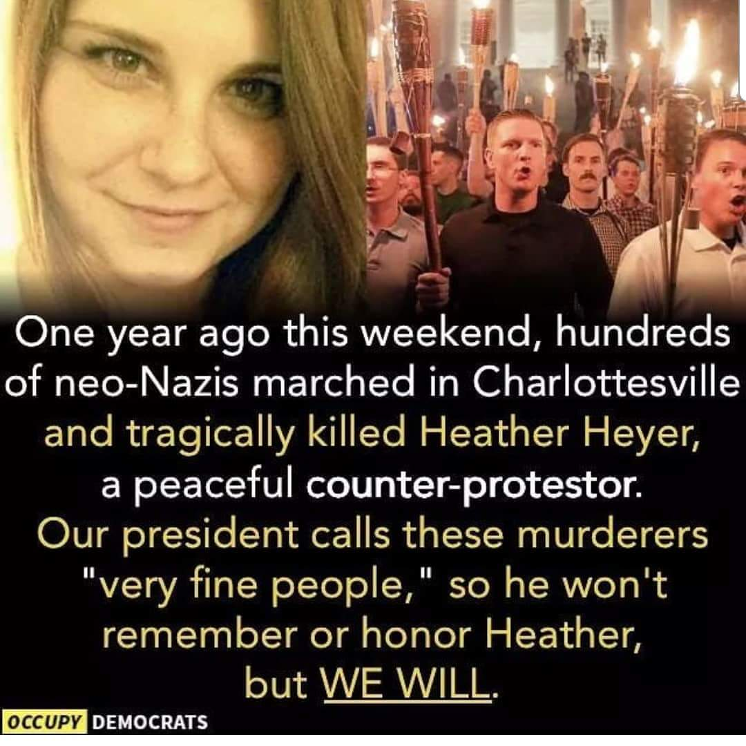 RIP #HeatherHeyer, your advocacy for #justice #equality #civilrights will not be forgotten.   #Charlottesville #RESIST<br>http://pic.twitter.com/9C30T5sbot