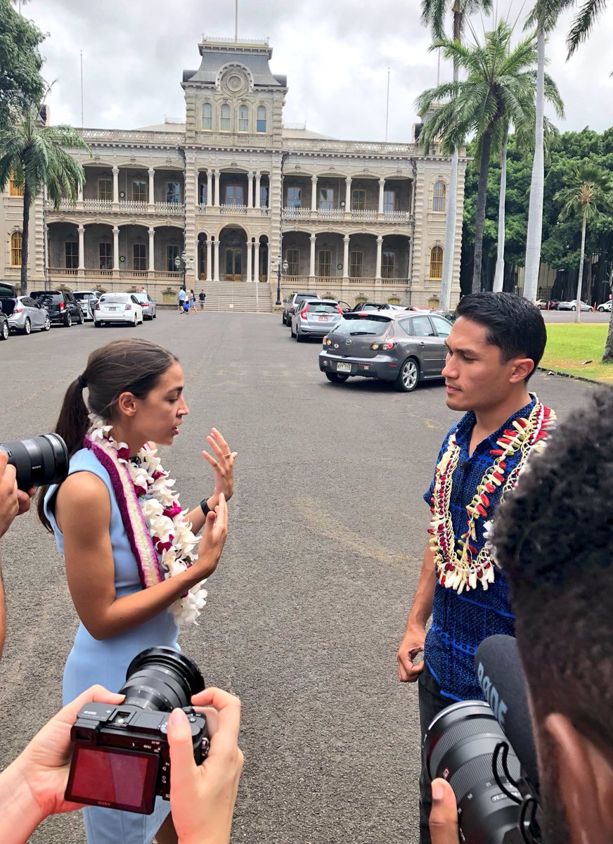 Filming at Iolani Palace. We're talking  about how two millennials from working class families ended up running for Congress, and more! #FightForAloha <br>http://pic.twitter.com/D12zmNgb8D