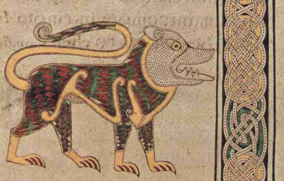 Apparently it&#39;s #WorldLionDay, so here is a really bad one from the Book of Durrow :) I&#39;m guessing the monks had never seen a real one..... <br>http://pic.twitter.com/4bGRGkEIka