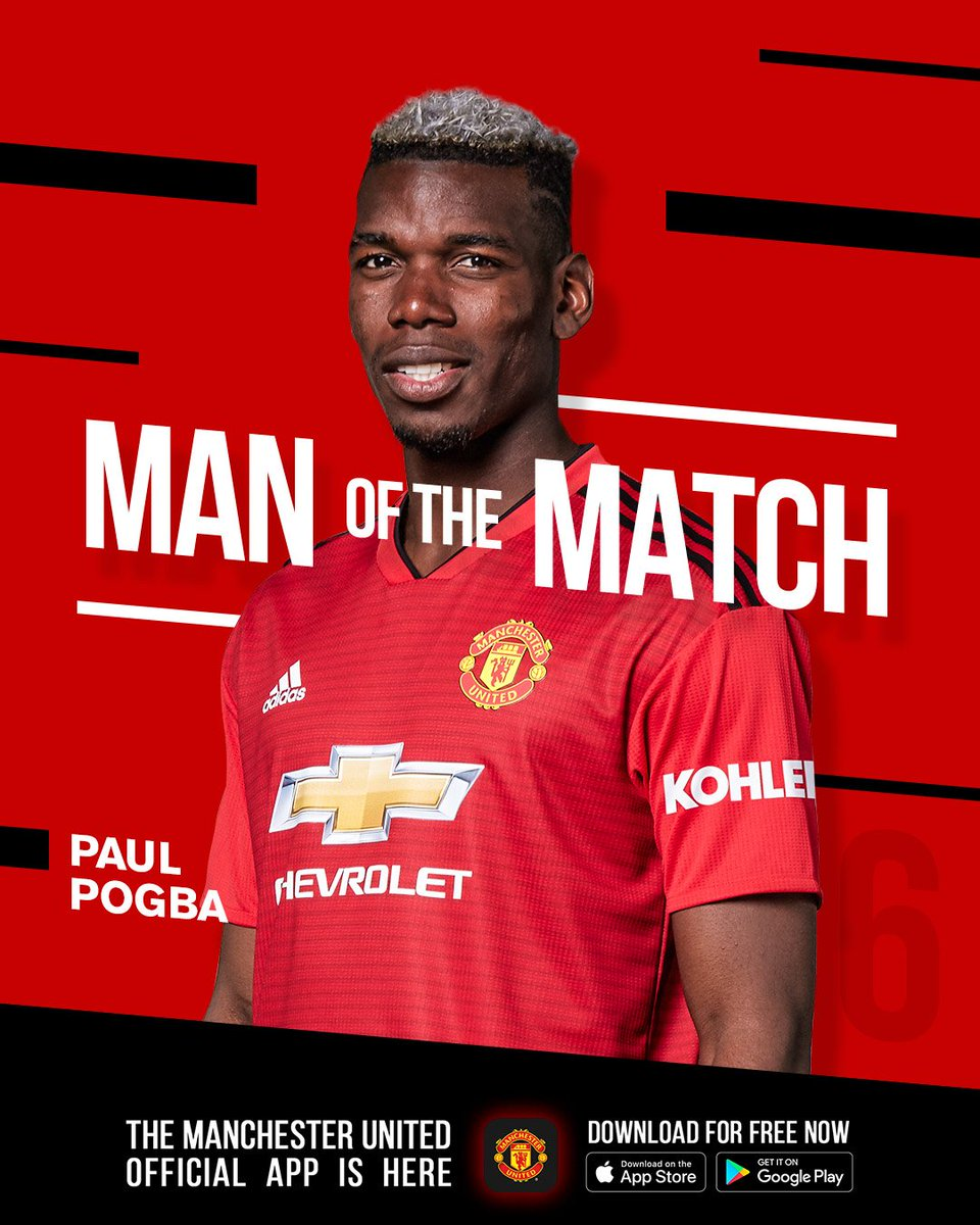 🥁 Our first #MUFC Man of the Match winner in the @PremierLeague this season... 🥇 @PaulPogba! 🥇