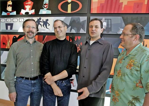 John Lasseter and Ed Catmull were initially wary when the topic of Disney buying Pixar first came up, but Steve Jobs asked them to give Bob Iger a chance, and eventually, Iger convinced them of the sincerity of his epiphany that Disney really needed to re-focus on animation. <br>http://pic.twitter.com/D605tfzLfm