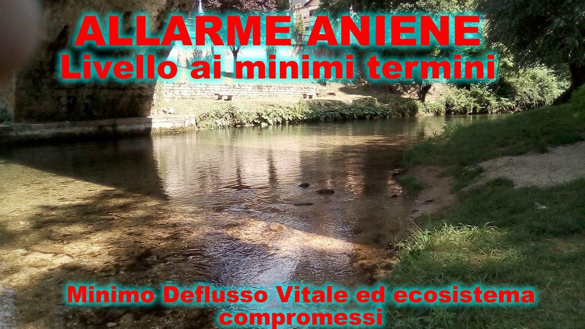 A #Subiaco il fiume è ridotto ai minimi termini ecosistema fluviale dell\