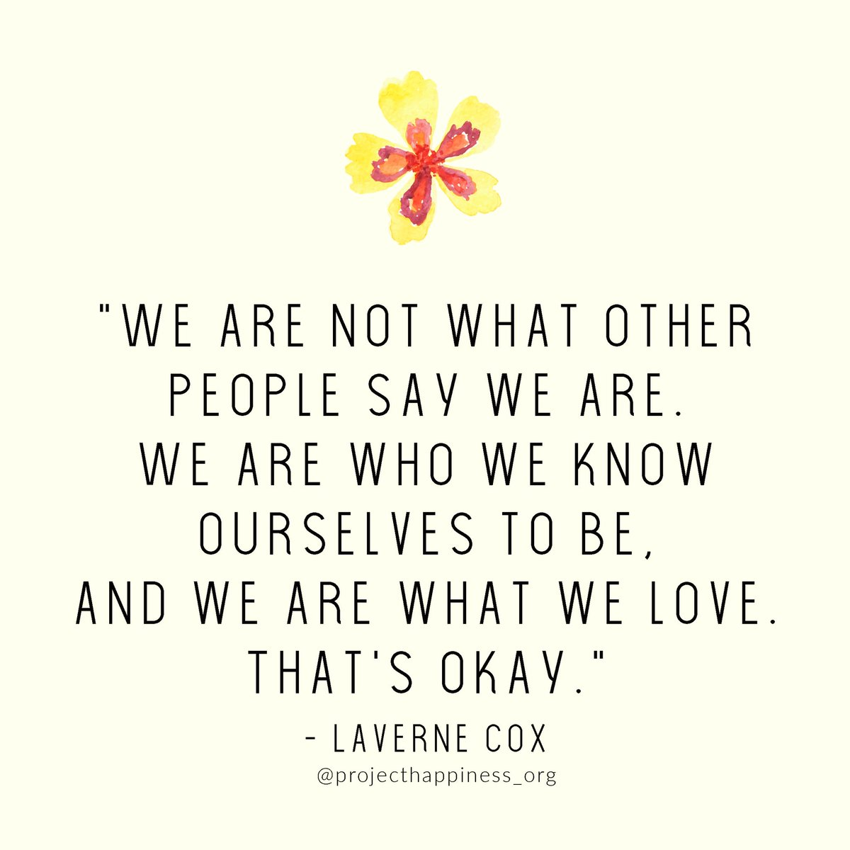 You are who you know yourself to be. Being vulnerable and showing the world who you are takes courage. It is also in this process where you find connection. You know your truth. In stillness, your true self guides you. Let it free today.  #projecthappiness @Lavernecox <br>http://pic.twitter.com/7rx0XyjMYq