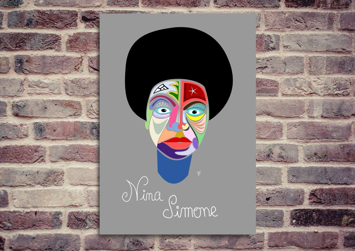 Affiche déco Nina Simone?  https:// tictail.com/pierrprint6  &nbsp;   affiche déco disponible en grand ou petit format, sur papier mat, papier photo, vinyle adhésif ou toile coton.<br>http://pic.twitter.com/JPDkB308lP