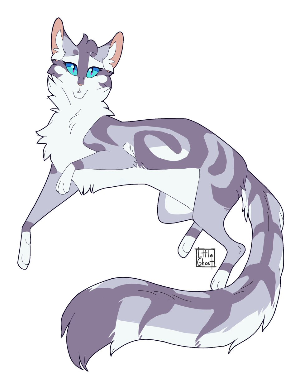 my finished Feathertail design!!! finalising this was hard, I kept messing with the lineart and markings and stuff more every time I thought I was finished  #warriors #warriorcats #feathertail #characterdesign #cat #drawing<br>http://pic.twitter.com/rqxsQiNr3y