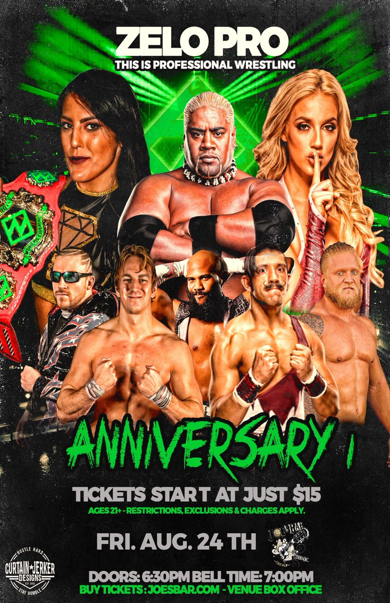Chicago wrestling fans are in for a TREAT 2-weeks from tonight!  Zelo Pro #Anniversary1  7pm - @JoesOnWeedSt  then head 4 miles west to  @FreelanceWres #DismantlingSummer  9pm - Logan Square Auditorium   <br>http://pic.twitter.com/k9WPkYqZ61