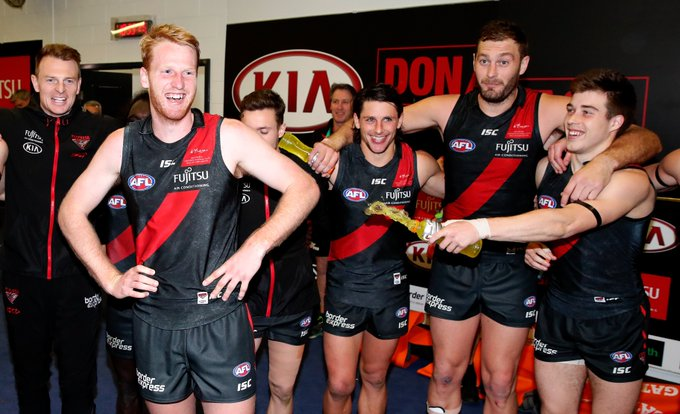 King: Essendon are one midfielder away from being serious premiership contenders. | | #AFLDonsSaints @davidking34 Photo