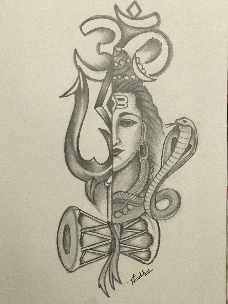 Sketch pencil mahadev shiva god strength harharmahadevpic twitter com mmawgv3czf