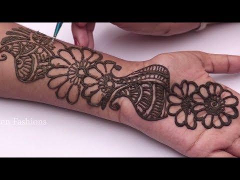 New Post New Mehndi Design For Hand Tutorials 2018