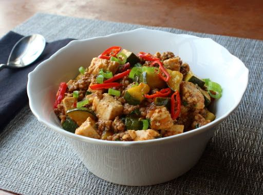 Spicy Pork & Vegetable Tofu – Probably Not Mapo Tofu#food #cooking #recipe https://t.co/iDEY2SuGm3 https://t.co/tAnr5GC4qk