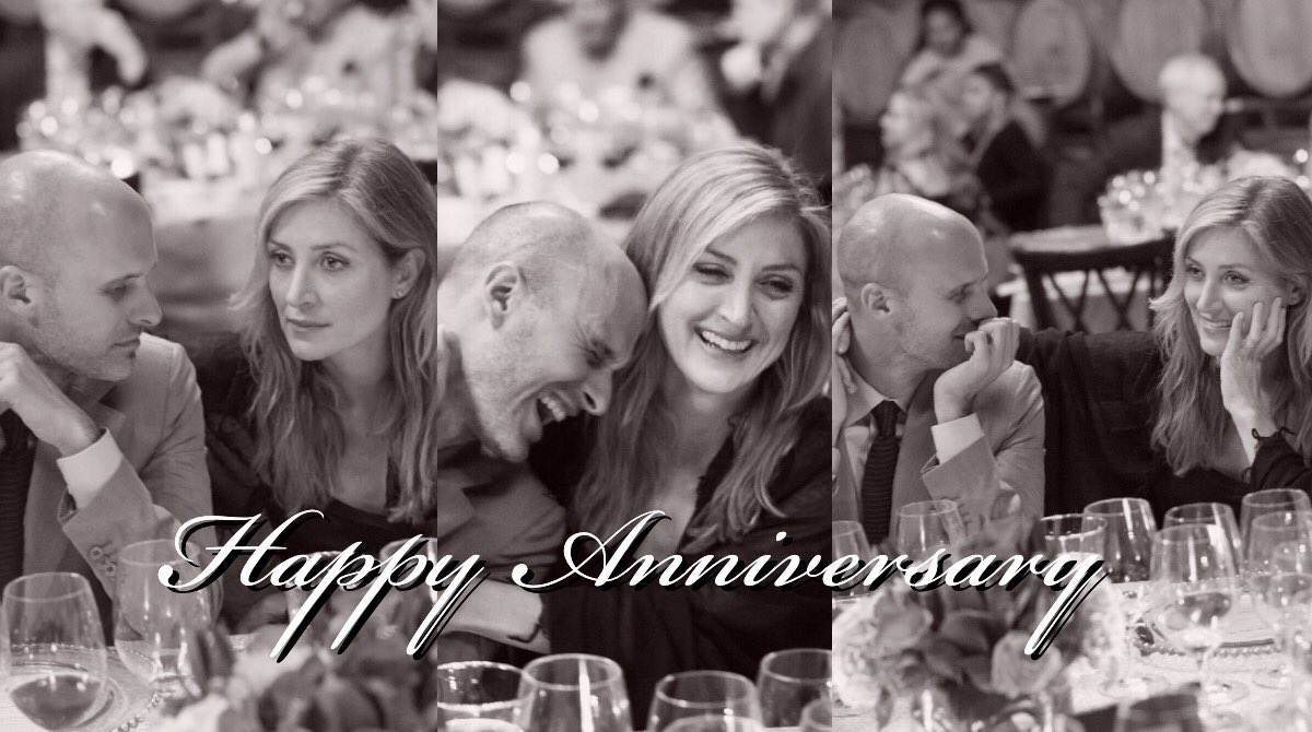 Here's to love, laughter & happily ever after ����  Happy anniversary, @sashaalexander & @EdoardoPonti �� https://t.co/7g5vPjvWTi